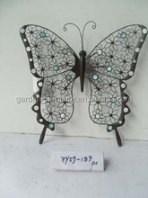 home decor wrought iron wire crafts outdoor garden decorations metal butterfly