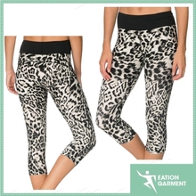 female beautiful breathable sublimated Hidden hip pocket running sports pants