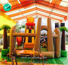 8x6x3meter hot sale colorful crown jumping castle for sale