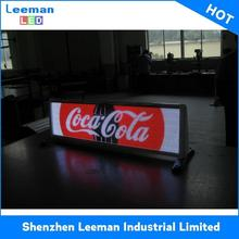 city advertiser hd taxi roof top signs leds hot sale promotional video displaying led sign