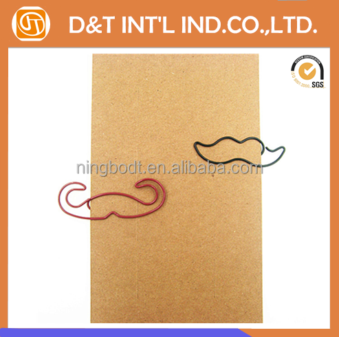 Colorful wire beard shape paper clip facial hair metal clip