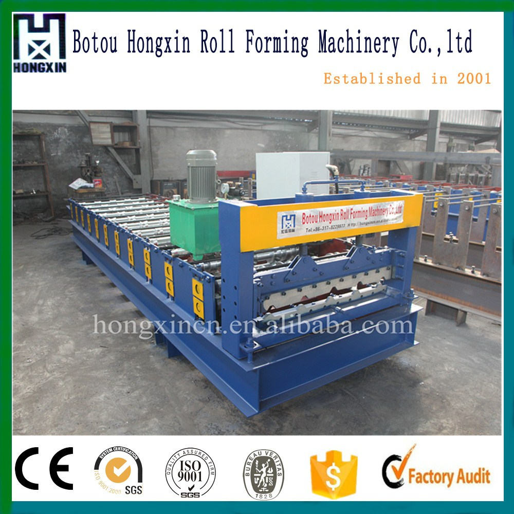 stone-coated metal roof tile making machine /roof sheet roll forming machine for color coated sheet