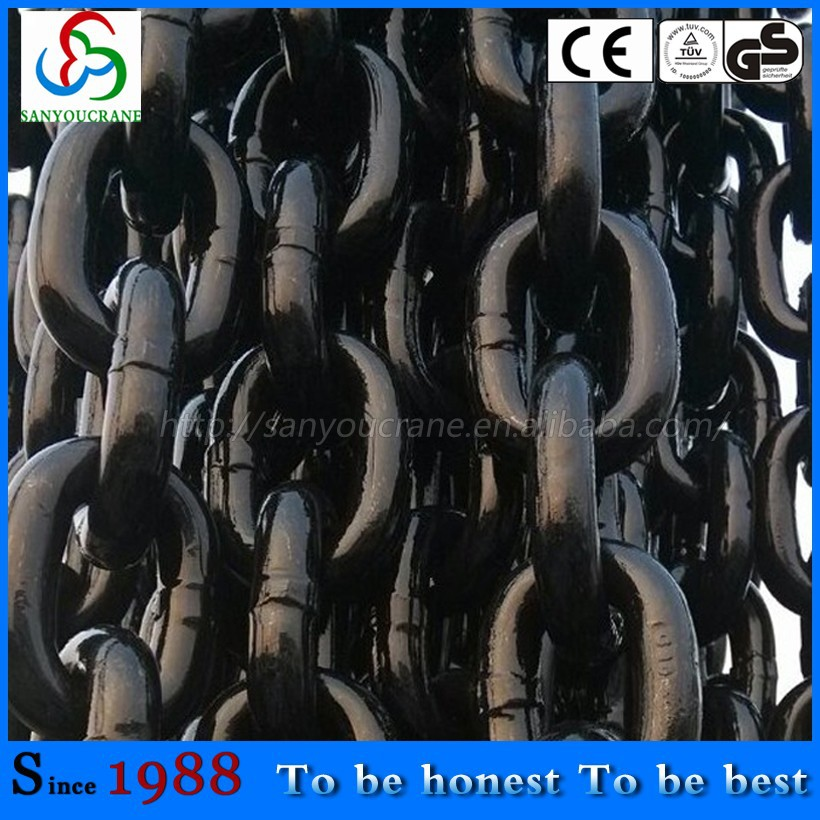 high Strength G80 lashing chain for hoist lashing chain load chain diameter from 6-32