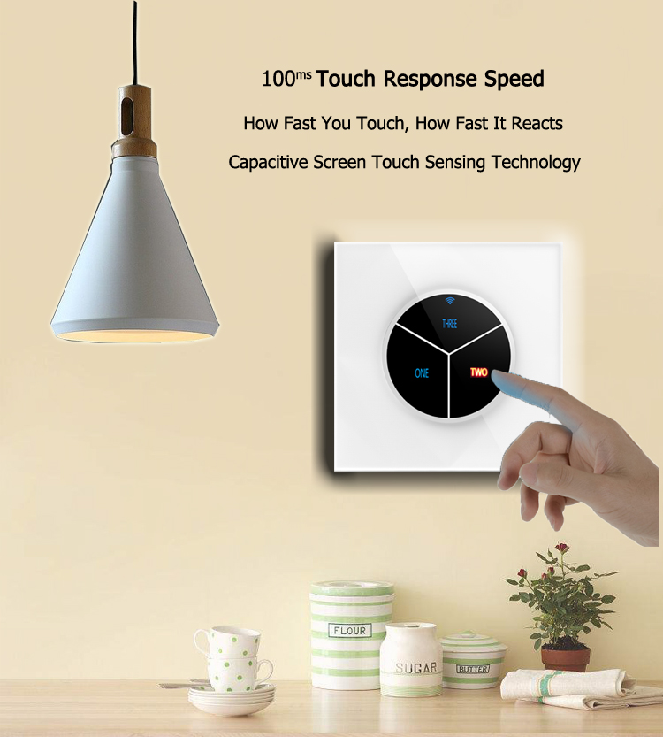 Mobile Phone APP WIFI Control Lighting Wall Switch