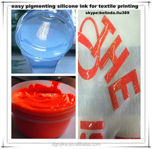 easy pigmented two parts silicone ink for textile printing