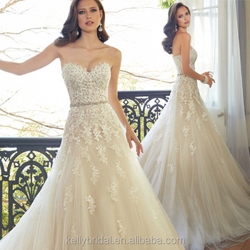 ZM 16110 sweetheart neck sleeveless western style wedding dresses luxury beaded champagne beach wedding dress bridal gown