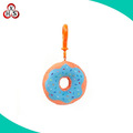 Factory price stuffed donut key chain plush donut keychain