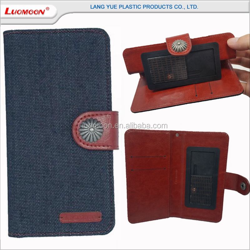 Universal Denim wallet flip phone cover case for Doogee X F 8 7 6 5 max pro dg 550 800 150 700 310 350 900 y 300 200 100