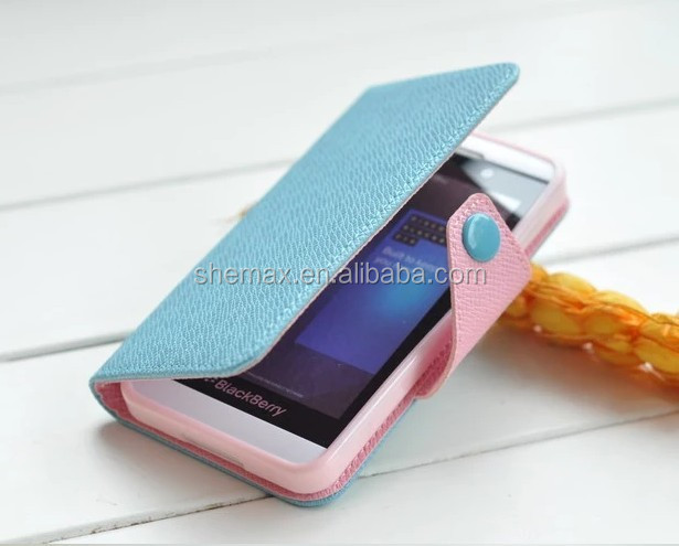 Hot Sale in All Country Mix Color Leather Case for Blackberry Z10 Custom Case
