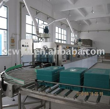 automatic passing type plastic container cleaning machine