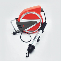 15m wall mounted auto retractable extension cord reel work light