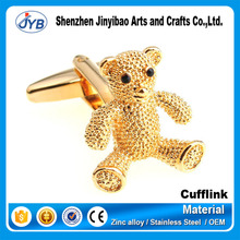 wholesale custom high quality 3D bear shape cufflinks