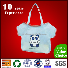 Skillful manufacture Lovely green spun shopping bag