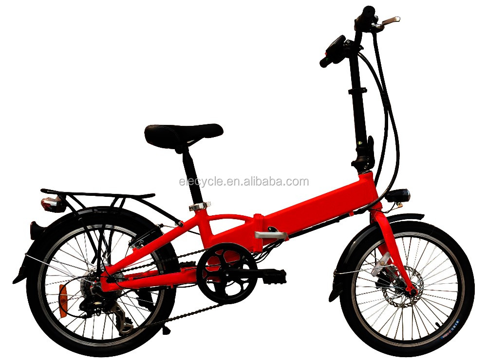 36V 250W lithium battery powered folding cheap electric motorbike