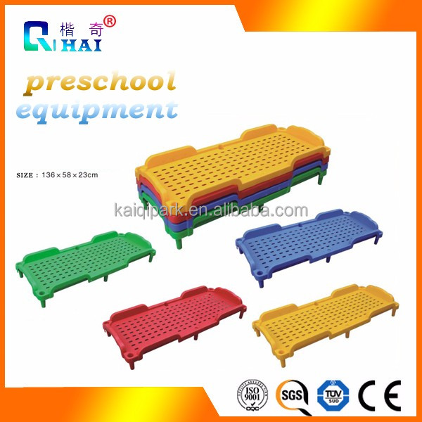 2017 new bed design safety preschool and kids nap plastic kids bed