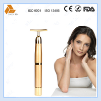 T shape gold beauty massager 24K golden beauty bar