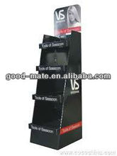 Cardboard Hair Salon Display Shelf Shampoos Product Retail Stand
