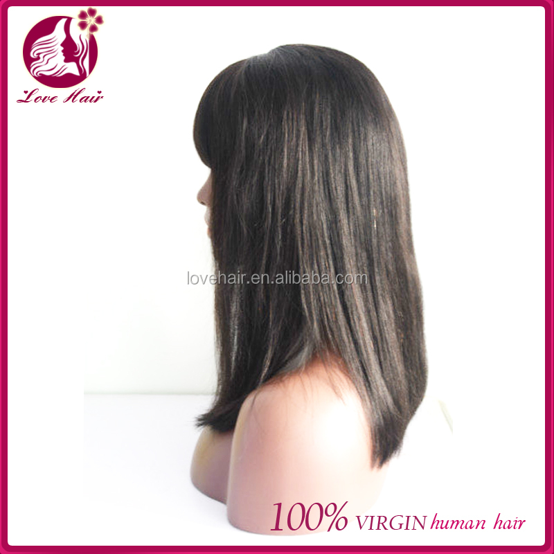 Factory Main Products! good quality chinese hair silk top lace front wig wholesale price