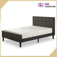 Modern standard fabric bed hotel double bed design to sale
