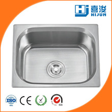 stainless steel kitchen sink for hotel with declining edge