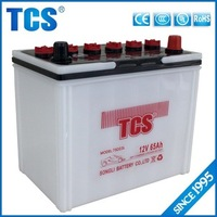 75D23L 12V 65Ah car battery dry charged battery for starting with big discount