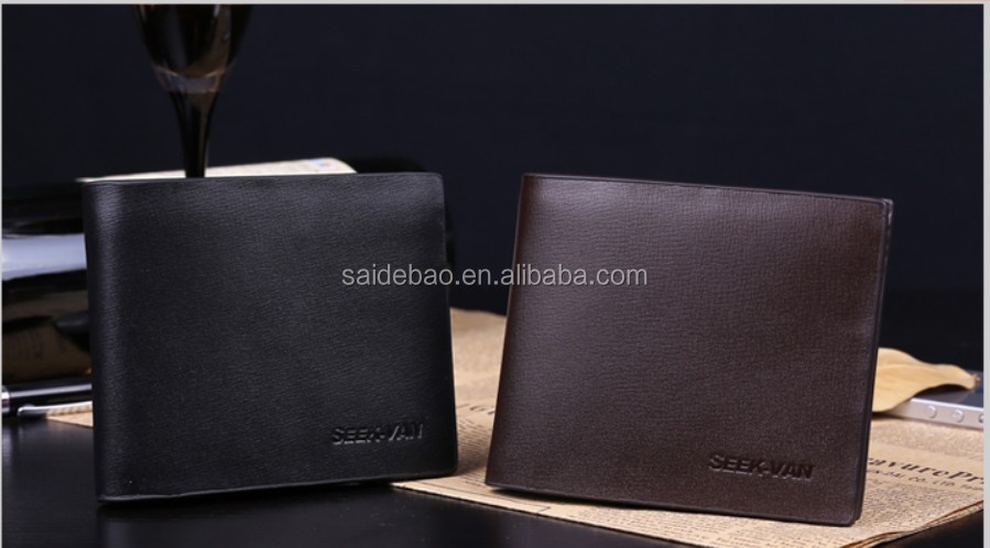 New Fashion Customized Size Men's Wallet, Promition Genuine/Pu leather men's wallet