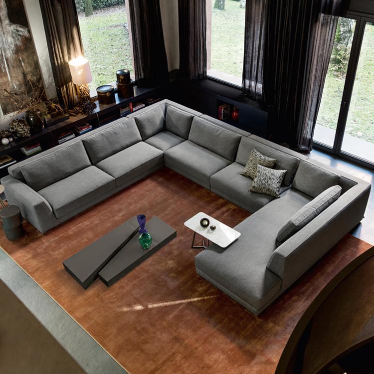 Latest living room sofa design u shape sectional sofa 7 seater, View sofa 7  seater, Shann Product Details from Foshan City Shann Furniture Co., Ltd. ...