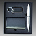 Business gift set for man with card holder pen and USB Flash