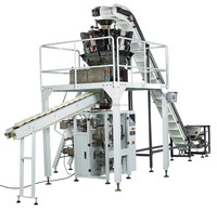 Multi heads weigher vertical form fill seal machine for dry fruits and nuts