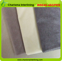 45gsm Double dot coating interlining/ Non woven basic Interlining