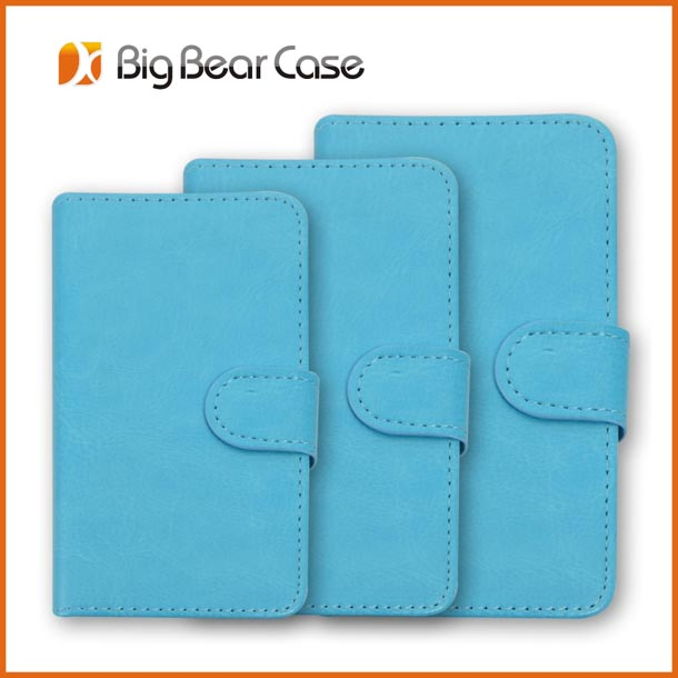 Heavy duty universal smart phone wallet style leather case