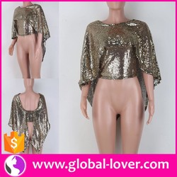 Women Elegant Party Wear Sequins Party Tops Girls Party Wear Tops
