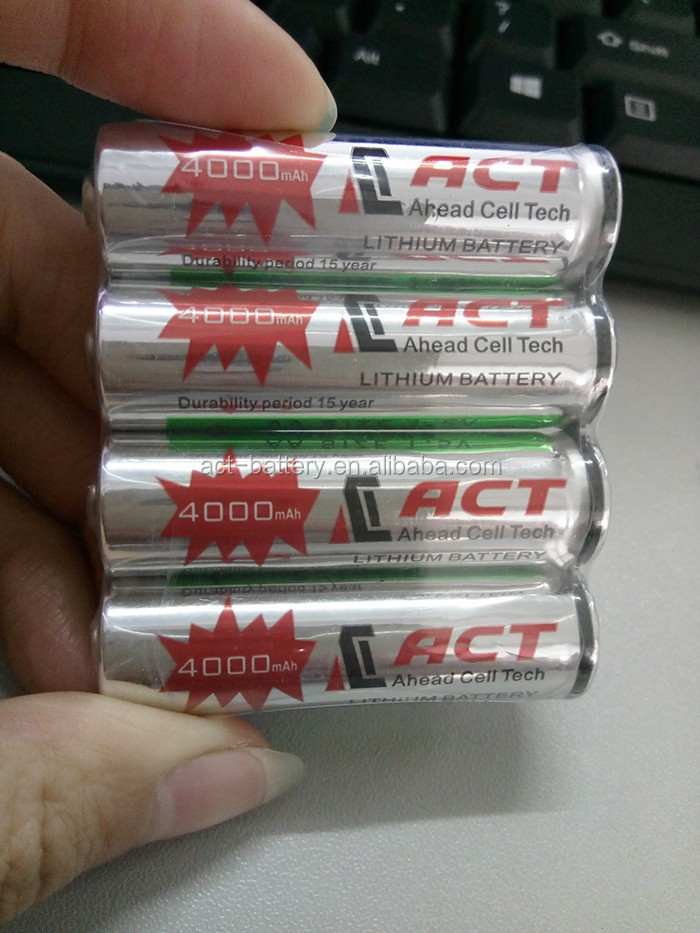 AA Type 4000mAh Nominal Capacity Primary Battery From ACT Battery Manufacturer