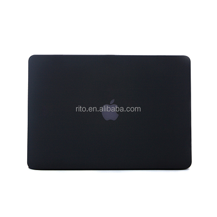 For Black Macbook Cases 13 Inch, Rubberized Hard Case Cover For Macbook Pro 13 Air 13 Retina 13