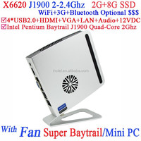 2015 new product mini pc cheap gaming desktops j1900 with Intel Pentium Baytrail J1900 Quad Core 2.0G CPU special smart design