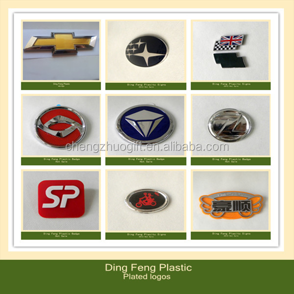 3D Plastic Chrome Car Emblem
