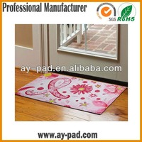 AY Promotional Home Rubber Floor Carpet, Printed Fabric Rubber Door Mat