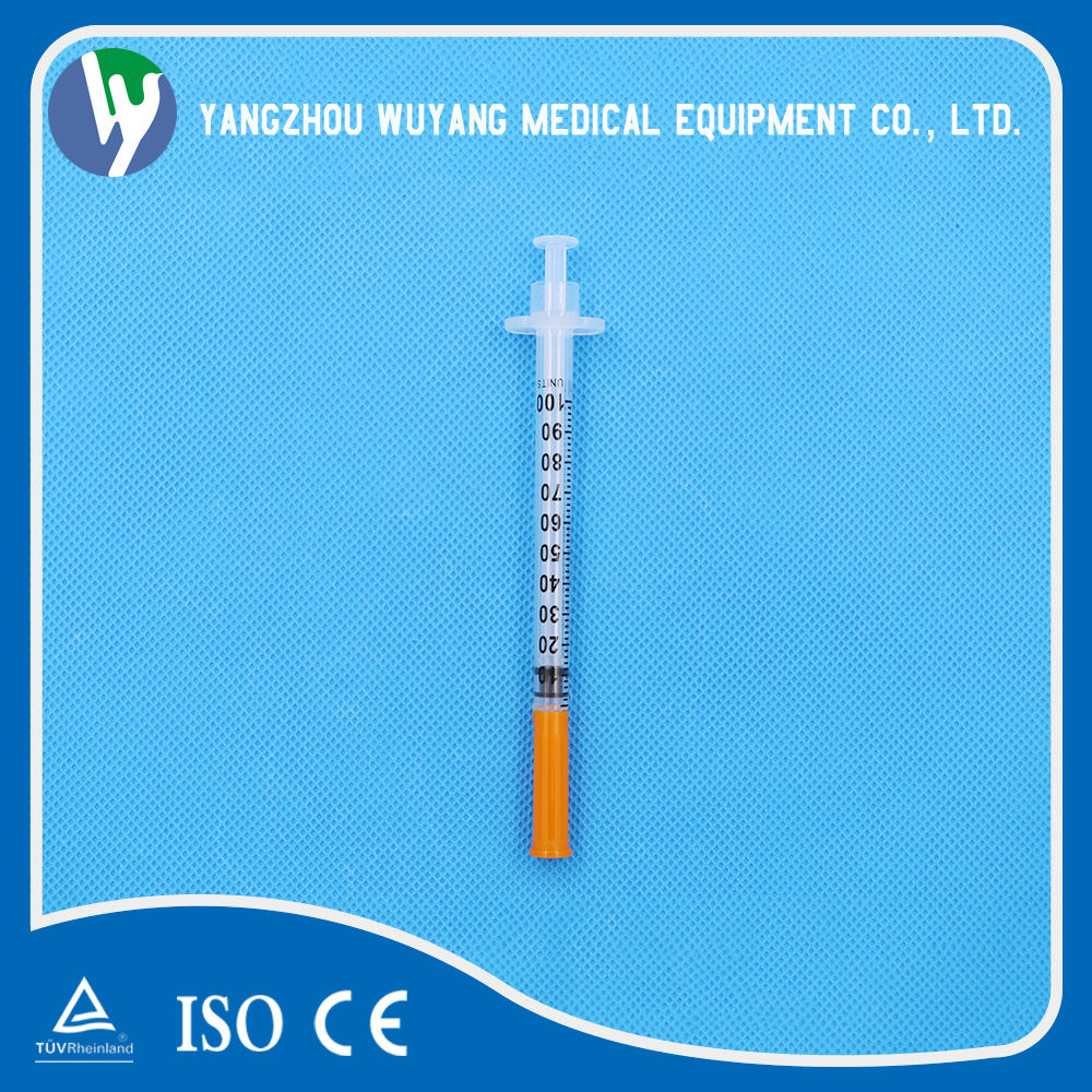 Medical injection device 1ml disposable syringes with needle luer slip as syringe