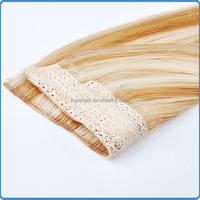 Top grade good feeling hair products virgin mongolian fish line hair halo hair extensions buy one get one free