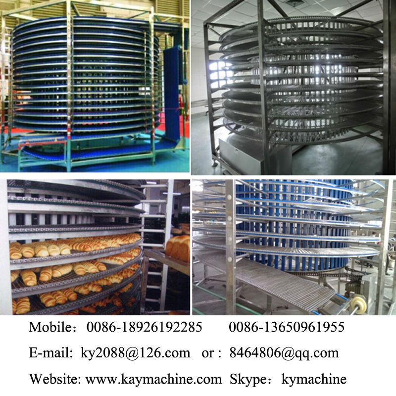 Food Coolers ,bread hamburger toast spiral cooling tower(manufacturer)