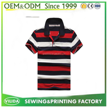OEM short sleeve men stripe Polo shirt three color combination sport Polo shirt
