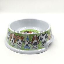 Cute Puppy Dog Pet Bowl Of Green