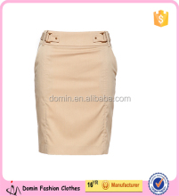 2015 Fashion OEM Sexy Bodycon Business Casual Solid Color Straight Pencil Skirt