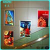 Promotional wall hanging crystal light box, wall hang led light box for shopping mall