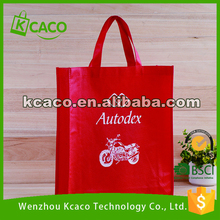 Hot red recyclable folding non woven shopping tote bag