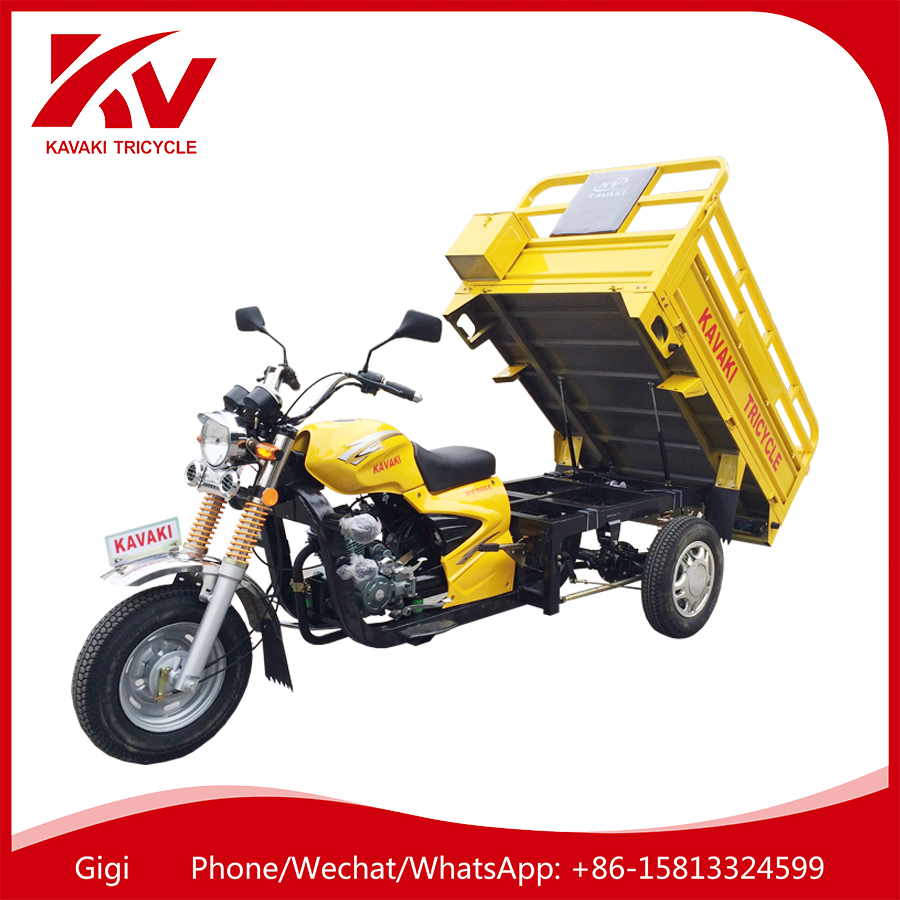 2017 Guangzhou tricycle factory supply new air-cooled 200cc/250cc China three wheel cargo motorcycle
