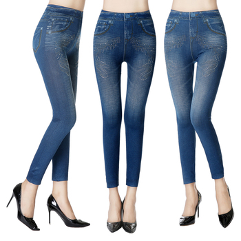 Wholesale stretchy slim jeggings Tights Jeans Leggings for women jegging