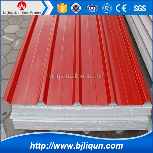2015 low cost building material wall roof eps sandwich