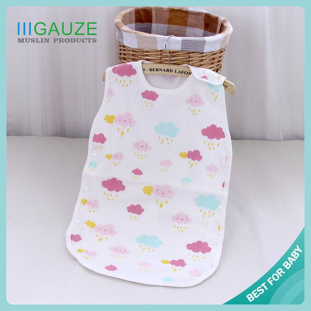 Cotton Printing Baby Muslin Sleeping Bags Pattern For Summer