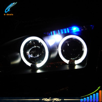 B-DEALS automobile parts 100mm ccfl angel eyes halo ring bi-xenon hid projector lens light angel eyes for ford focus8